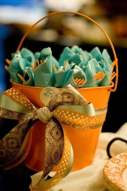 Baby shower basket - full of sweet decorations