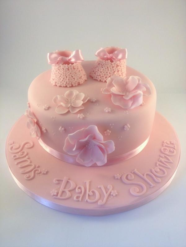 Baby shower cake - in pink color