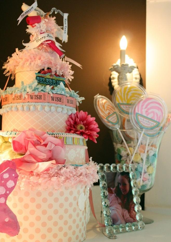Baby shower cake - with pink decorations