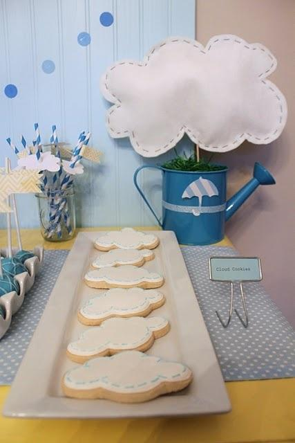 Baby shower cookies - on a table