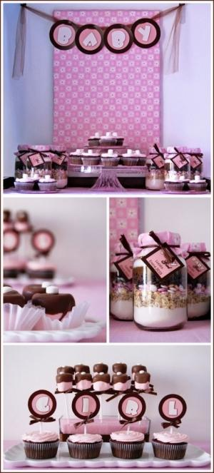 Baby shower decor - in pink