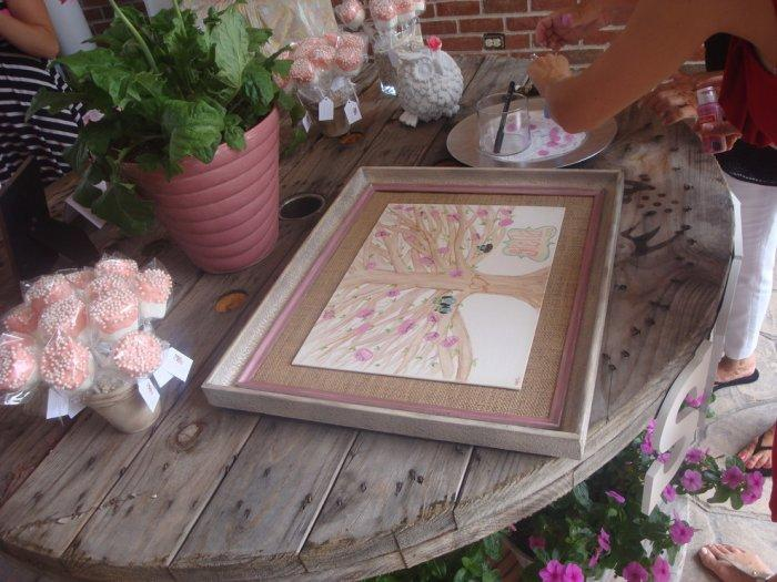 Baby shower drawing table - for creating paintings