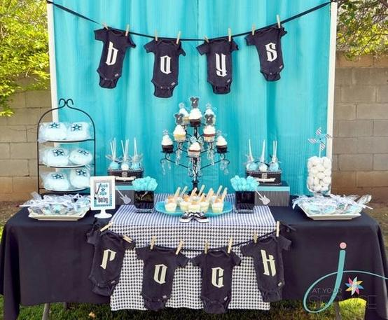Baby shower for boys - in blue color