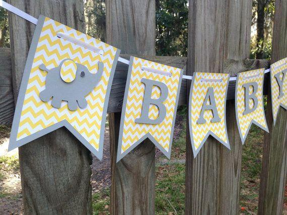 Baby shower garland - with letters