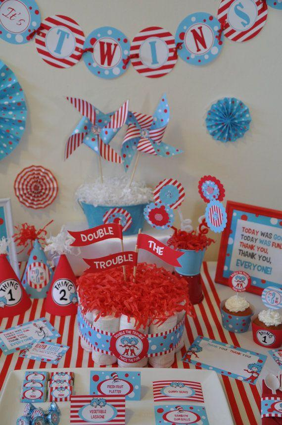 Baby shower idea for twin boys 1 - blue themed party decor