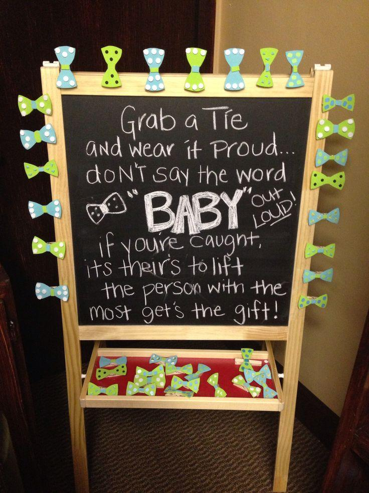 Baby shower idea for twin boys 3 - black board with messages