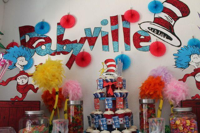 Baby shower ideas for twins founterior for Baby shower decoration ideas for twin girls