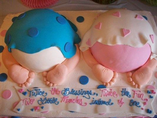 Baby shower ideas for twins founterior for Baby shower decoration ideas for twins