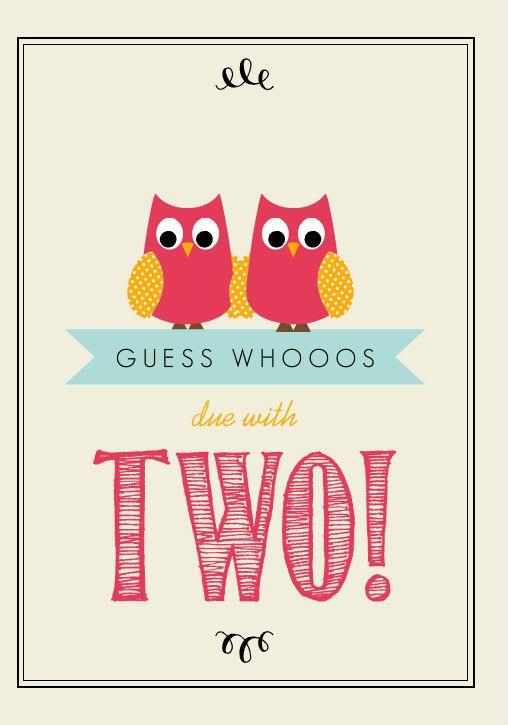 Baby shower idea for twins 4 - gues whooos due with two