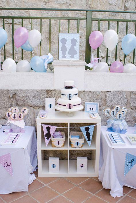 Baby Shower Idea For Twins 6 Outdoor Party In Pink And Blue