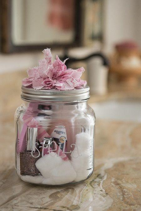 Baby shower jars - full of sweets