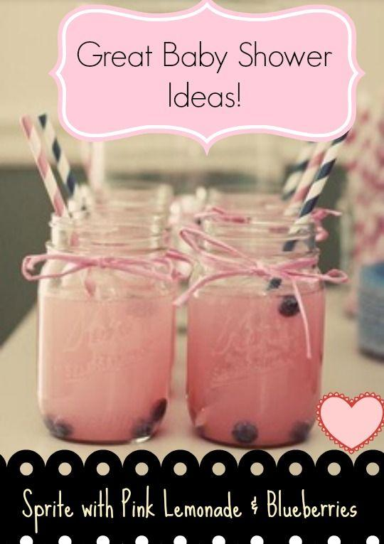 Baby shower mason jar 1 - with pink liquid
