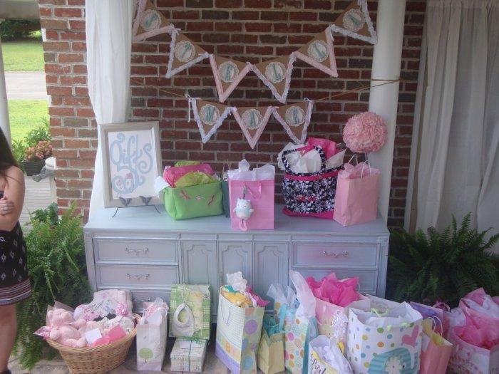 Baby shower party - with lots of presents