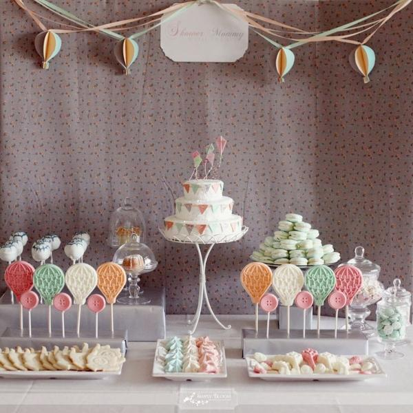 Baby shower treats - on a table