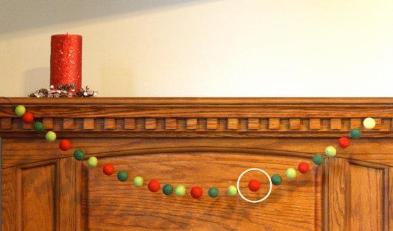 Ball Christmas garland - made of tiny parts