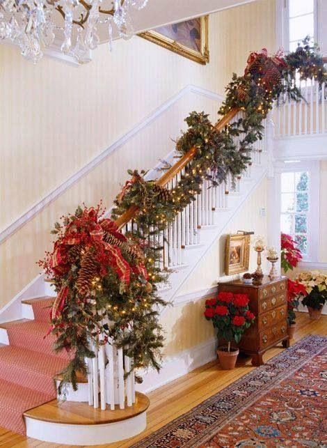 How To Decorate Your Holiday Stairs Fireplace Or Mantel