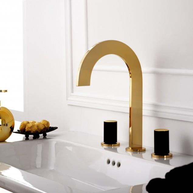 Bathroom faucet and vanity design for unique interior