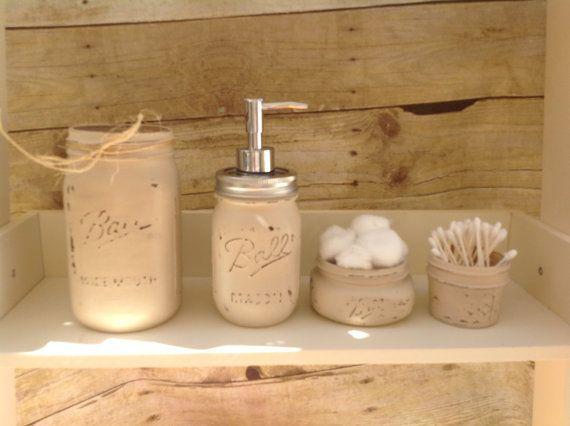 Mason jar decorations ideas for all holidays founterior for Bathroom jar ideas