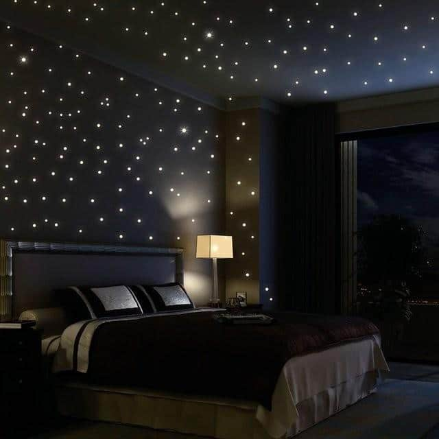 Bedroom Christmas Lights 10   on the walls and ceiling. Christmas Lights in Bedroom   How and Where to Install Them