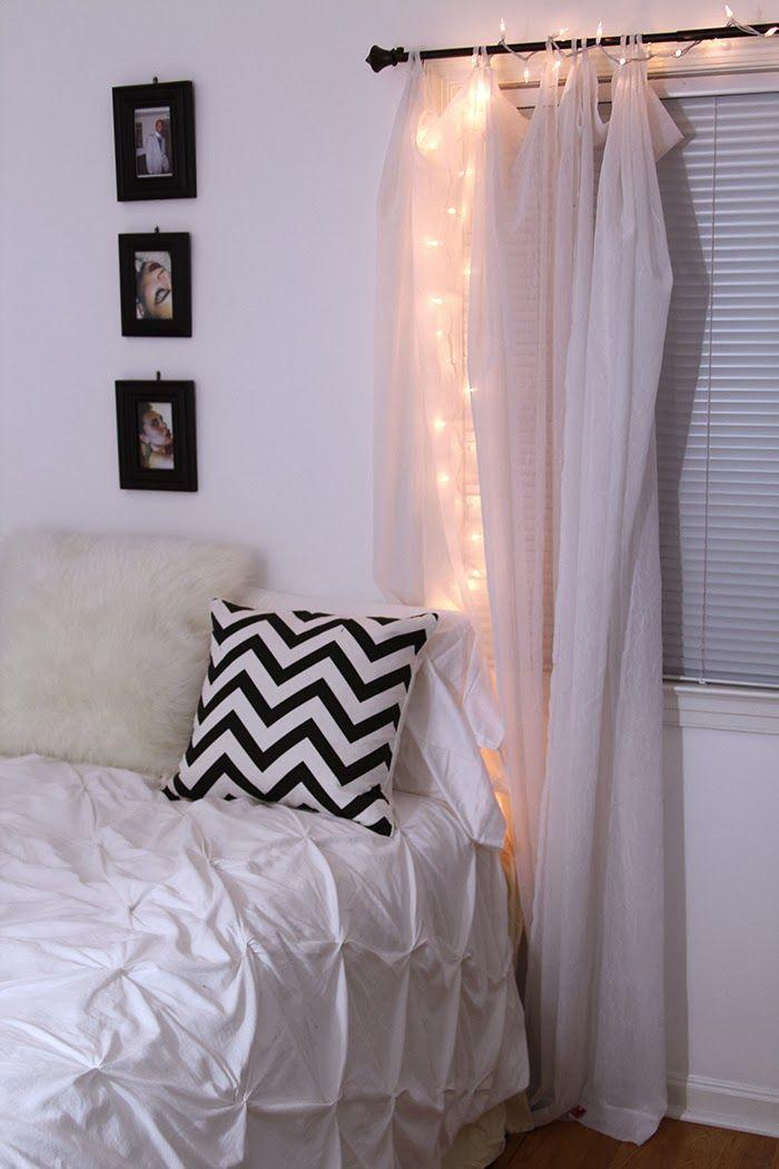 Bedroom Christmas Lights 4   installed behing the curtains. Christmas Lights in Bedroom   How and Where to Install Them