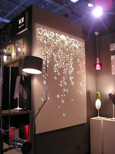 Bedroom Christmas Lights 8 - illuminated wall with light flowers - Bedroom Christmas Lights 8 - Illuminated Wall With Light Flowers