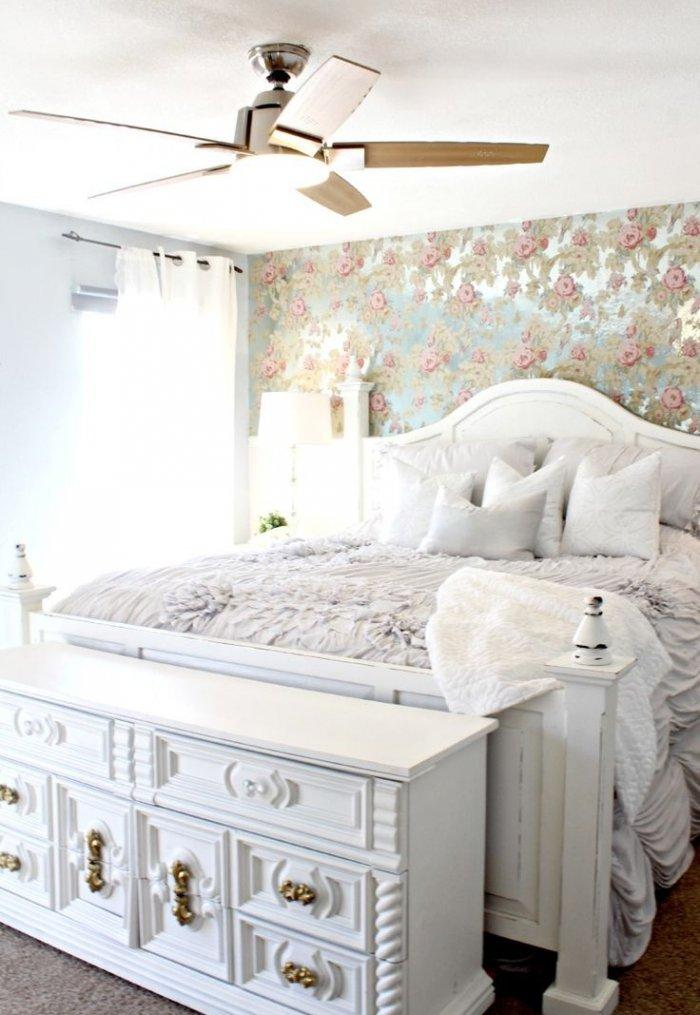 Bedroom chest foot bed 3 - in modern traditional interior