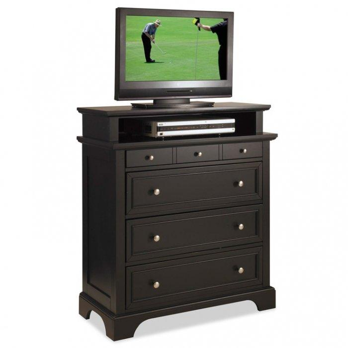 Bedroom chest for TV 3 - traditional black