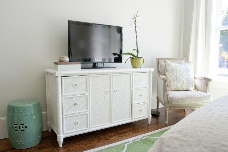 Bedroom chest for TV 4 - in simple white design