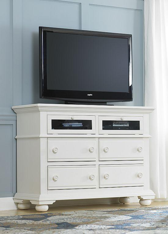 Bedroom chest for TV 6 - modern white and clean design