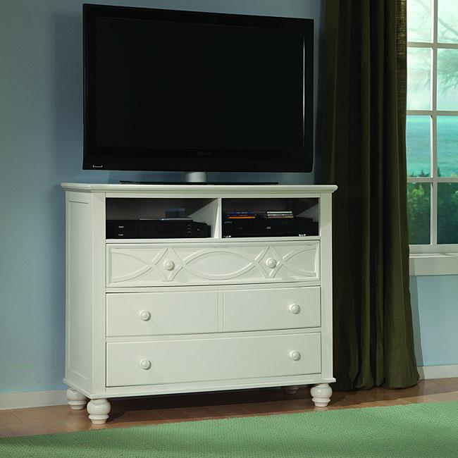 Bedroom chest for TV 7 - small in size and in white color