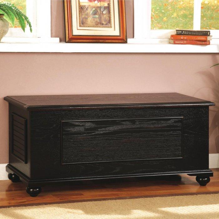 Bedroom chest storage 1 - in black color