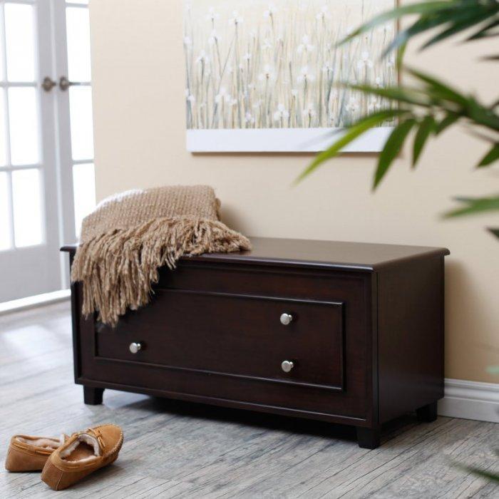Bedroom chest storage 2 - in dark brown
