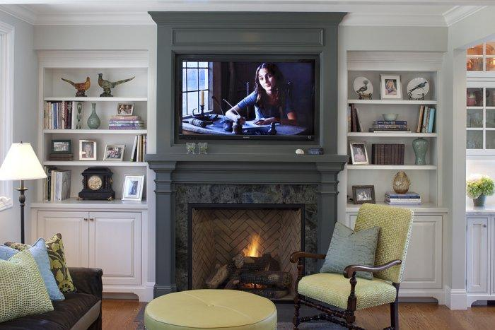 Bedroom electric fireplace 4 - in an American house