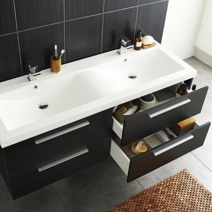 Black Bathroom Basin : Black bathroom basin cabinets - with drawers for storage