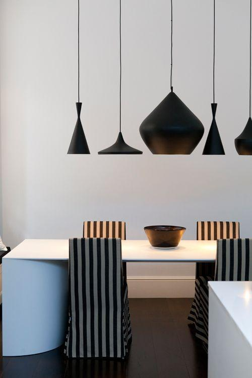 Black modern lamps - in various shapes