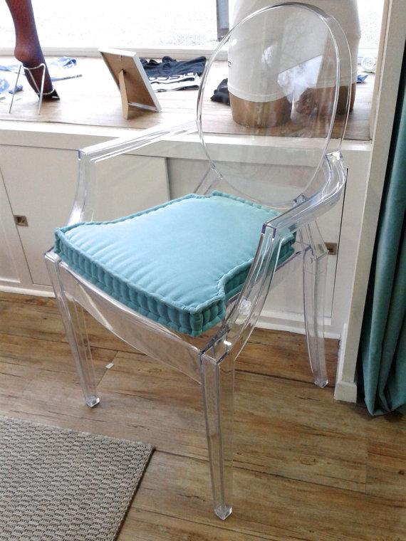 Blue Chair Cushions   On Modern Chair