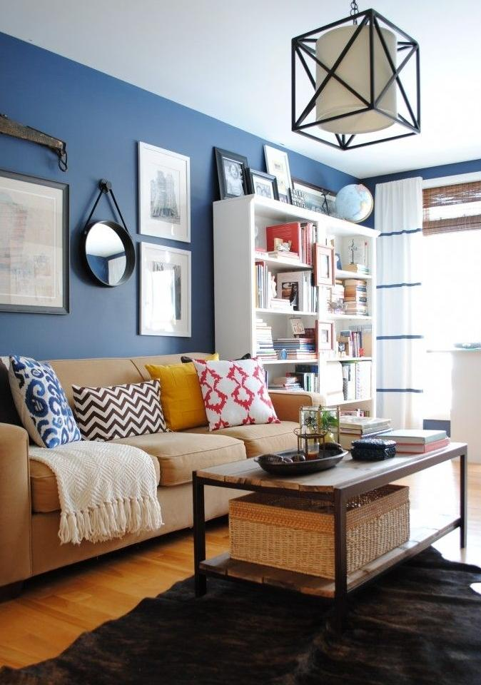 Blue living room paint 2 - in a casual apartment