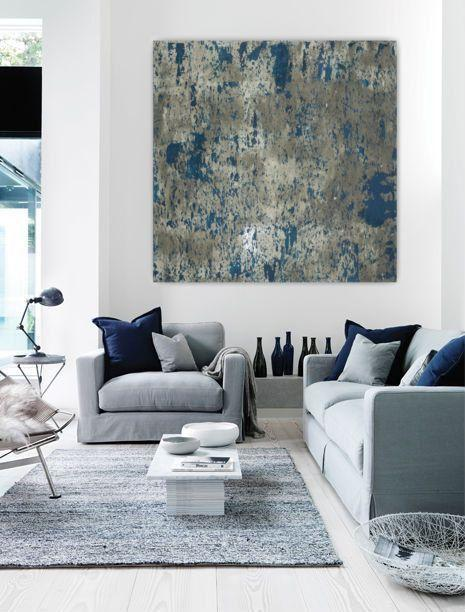 Blue living room paint 6 - and abstract wall art