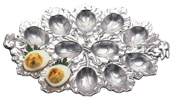 Boiled eggs plate - with special nests