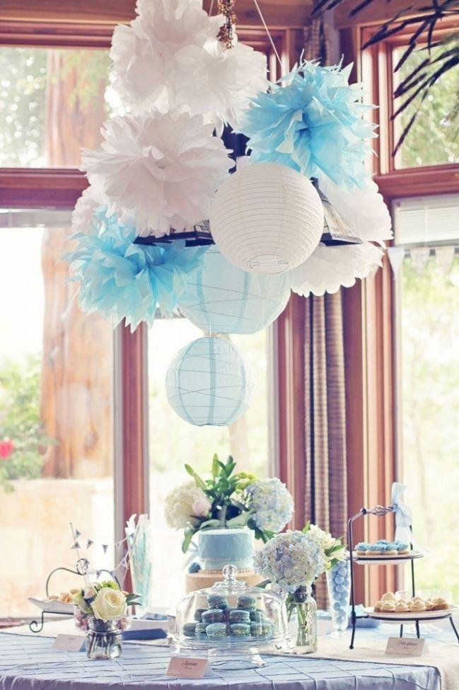 Boy baby shower 3 table decorations founterior for Baby shower function decoration