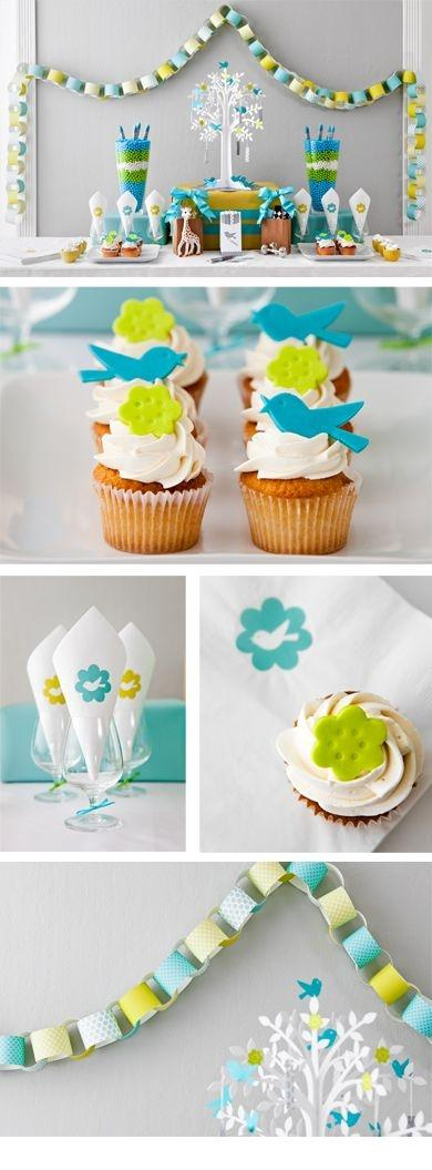 Boy shower cupcakes - and decorations