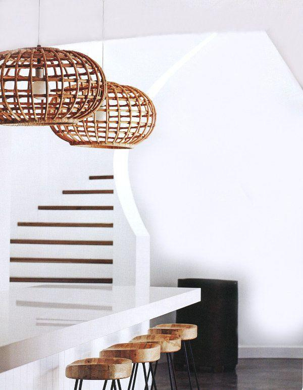 Brown modern pendant - with round shape