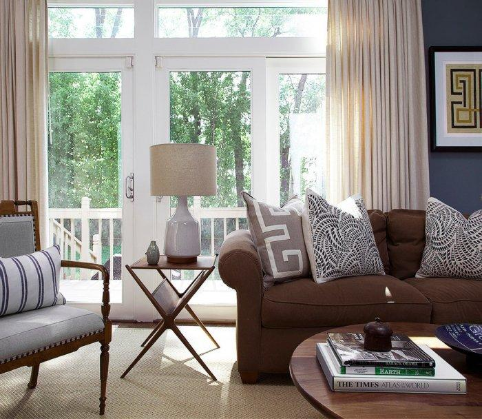 Brown Living Room Interior Design And Furniture Founterior