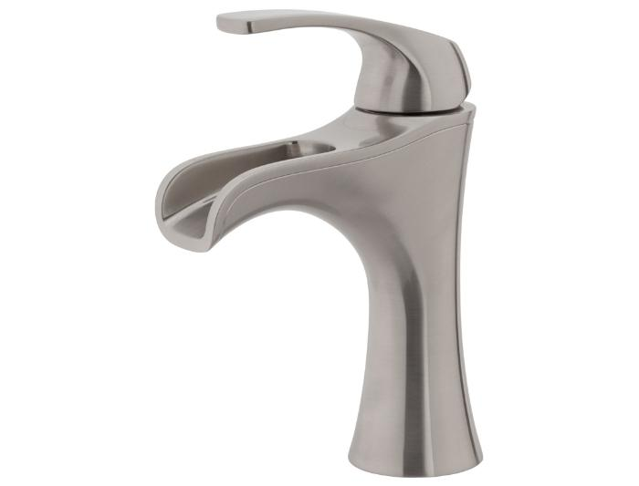 Brushed nickel bathroom faucet - with stylish design