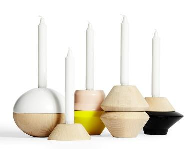 Candleholders in various shapes