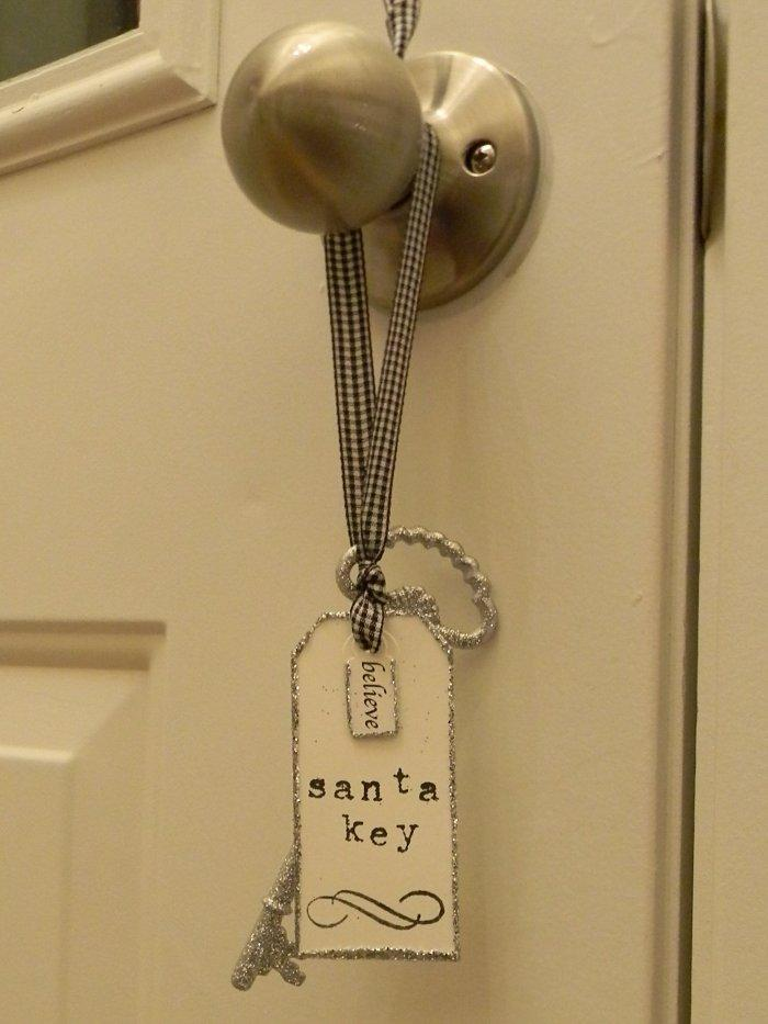 Christmas Eve door sign - Santa key