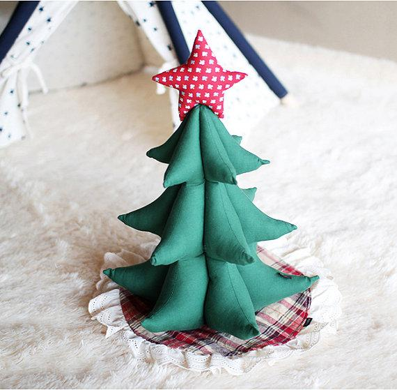Christmas Eve tree - made of green items