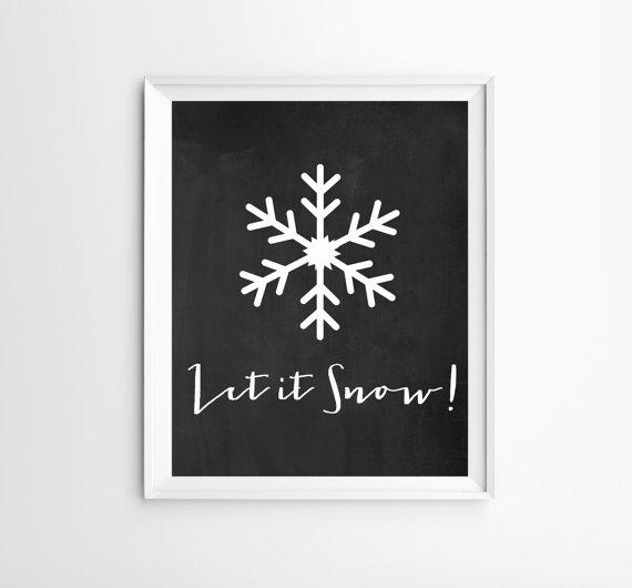 Christmas art image - let it snow
