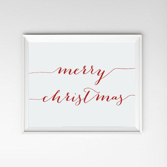 Christmas art sign - merry Christmas