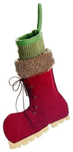 Christmas boot - with green sock